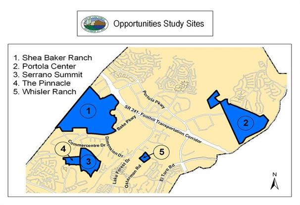 A map of the Opportunities Study Sites