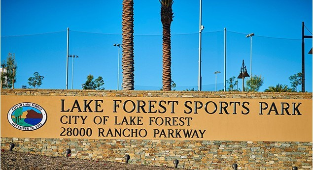 Lake Forest Sports Park Sign