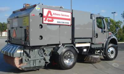 Athens Street Sweeping Services Vehicle